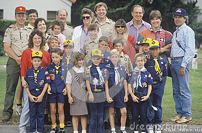 A Cub Scout troop Editorial Stock Photo