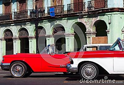 Cuba american Oldtimer in Havana City on the Main Street