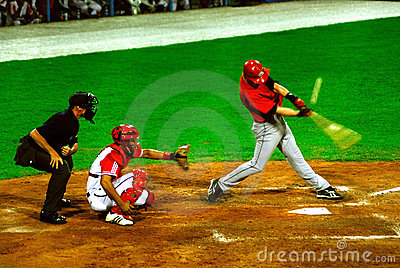 Cuba-canada baseball game Editorial Image