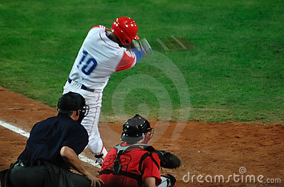 Cuba-canada baseball game Editorial Stock Image