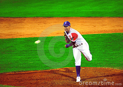 Cuba-Canada baseballl game.Yulieski gonzales Editorial Photo