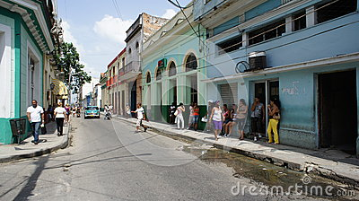 Cuba. Matanzas. Street Transportation. Editorial Stock Image