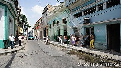 Cuba. Matanzas. Street Transportation. Editorial Stock Image
