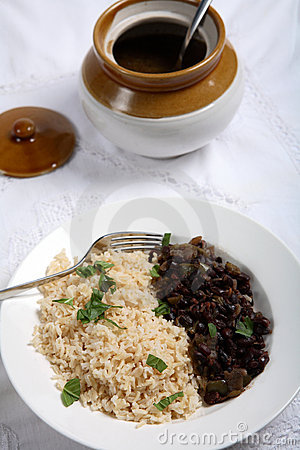 Cuban beans and rice vertical