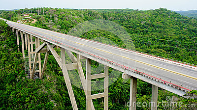 Cuban bridge. province Mantanzas.