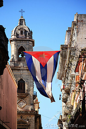 Free Cuban Flag In Havana Stock Photography - 10180792