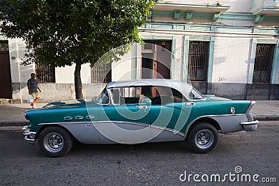 Old American car in Havana, Cuba Editorial Stock Image