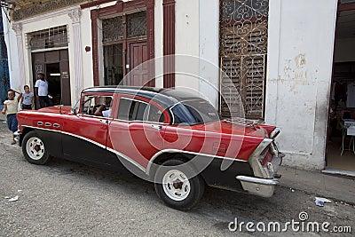 Old American car in Havana, Cuba  Editorial Stock Photo