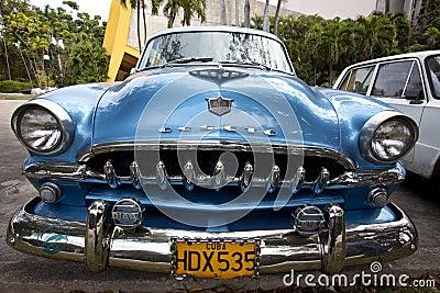 Old American car in Havana, Cuba  Editorial Photo