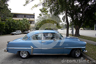 Cuban old cars Editorial Image