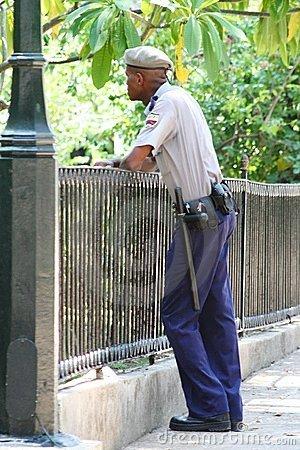 Cuban Policeman Editorial Photo