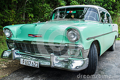 Cuban Taxi Editorial Stock Image