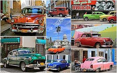 Cuban Vintage Cars Editorial Image