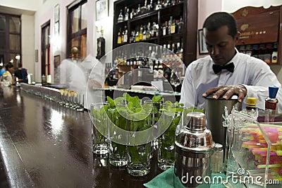 Cuban waiter in bar of Hotel Nacional in Havana, Cuba.