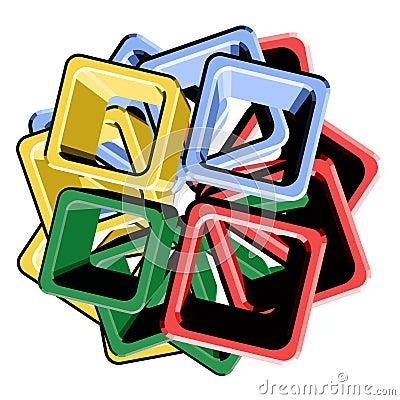 Cube art color
