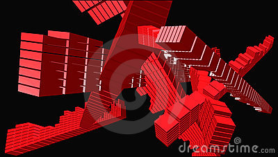 Cube art intersection - vector