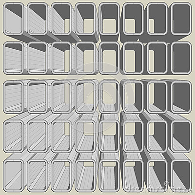 Cube art mosaic