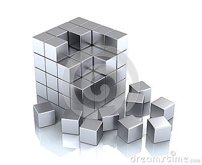 Cube and blocks