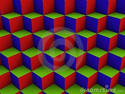 Cube Box Optical Illustion Royalty Free Stock Images - Image: 11687319