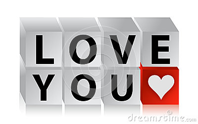 Cube en bouton de l amour 3D