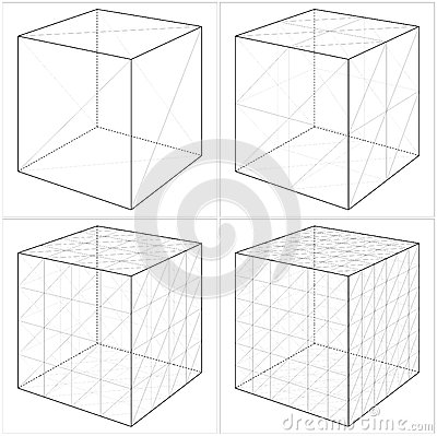 Free Cube From The Simple To The Complicated Shape Vector 05 Stock Photos - 30755203