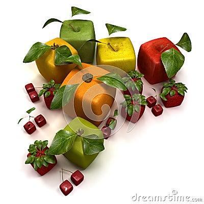 Cube fruits