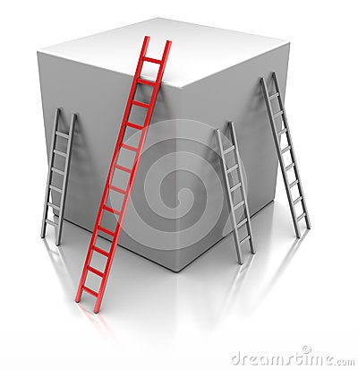 Cube with  ladders