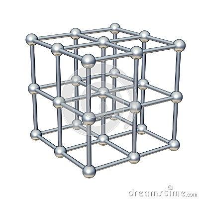 Free Cube Model Royalty Free Stock Image - 9193036