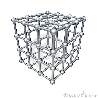 Free Cube Model Royalty Free Stock Image - 9375206