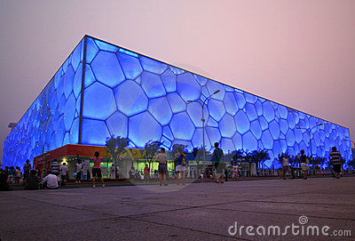 The Cube, Olympic National Park, Beijing Editorial Photo