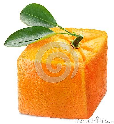 Free Cube Orange. Stock Photography - 20703902