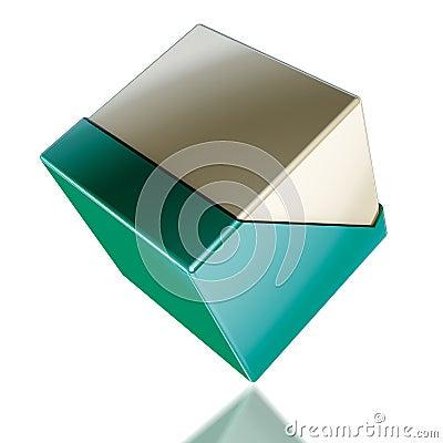 Cube plastic