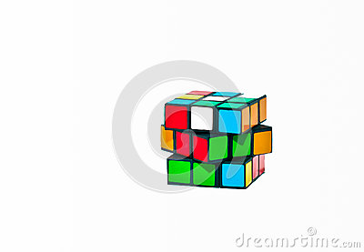 Cube Puzzle Editorial Stock Photo