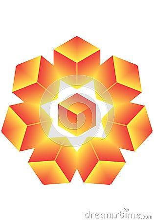 Cube a star.