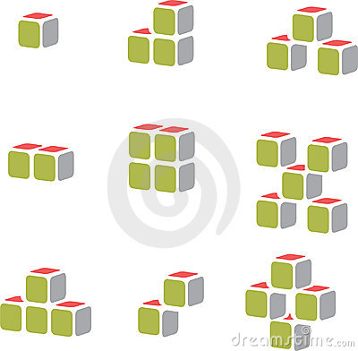 Cube vector for construction business