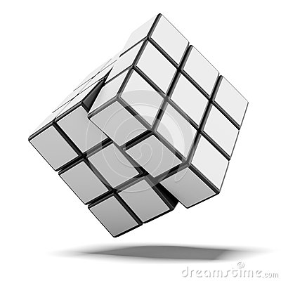Cube with white sides