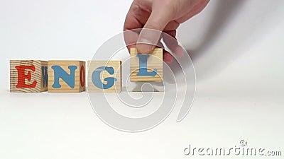 cubes деревянное английско акции видеоматериалы