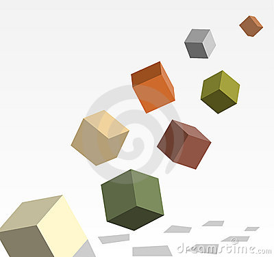 Cubes in 3d filling in
