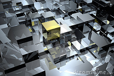 Cubes abstract