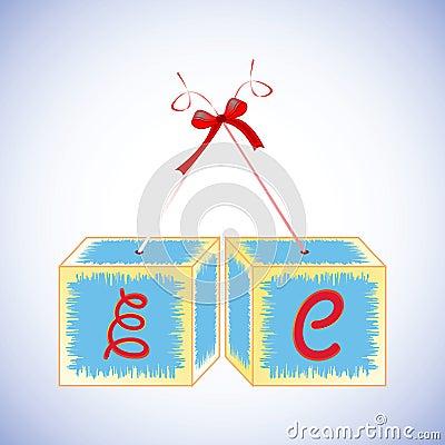Cubes alphabet E