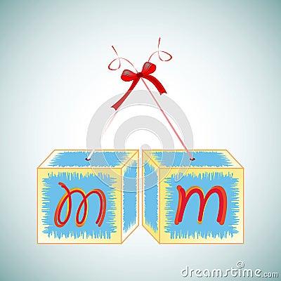 Cubes alphabet M