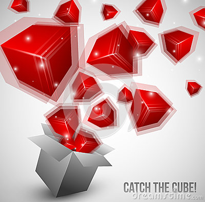 Cubes fly from box very fast