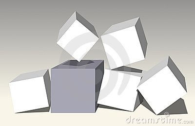 Cubes-frames(3D) in dynamics