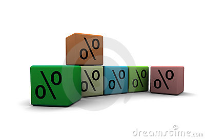 Cubes with percent symbols