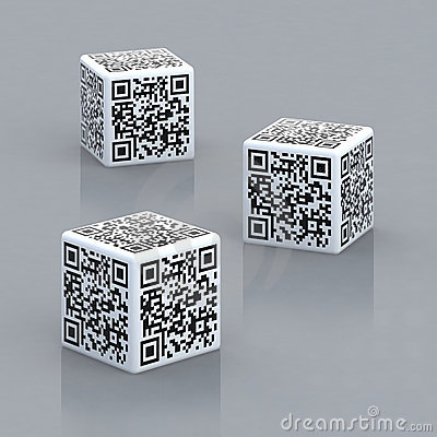 Cubes with qr code