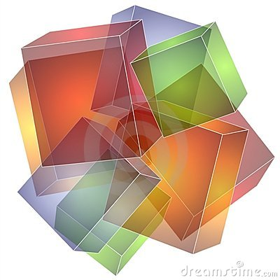 Cubes Squares Collage Texture