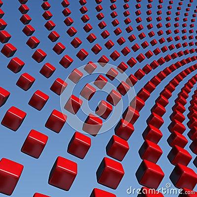 Cubes wave array