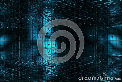 Cubic blue space