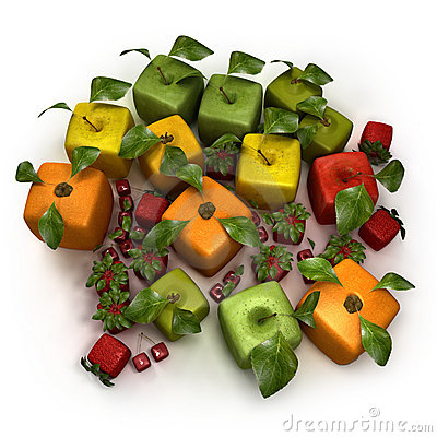 Cubic fruit composition