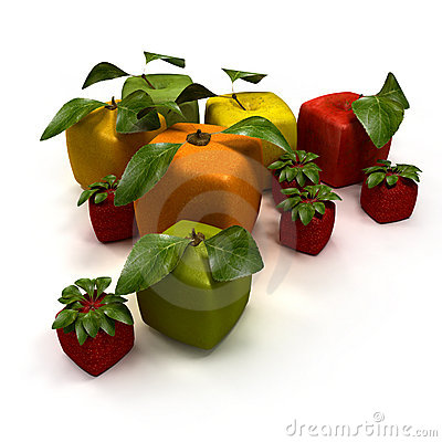 Free Cubic Fruits Stock Photography - 13227812